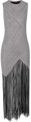 Proenza Schouler Fringed Woven Maxi Dress - Black