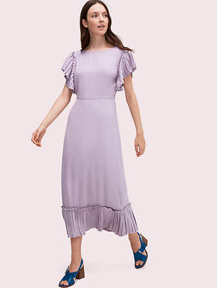 Kate Spade Pleated Crepe Dress, Iced Grape - Size 0
