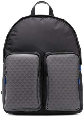 Emporio Armani multi-pocket backpack