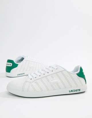 Lacoste Graduate 318 white leather sneakers with green trim