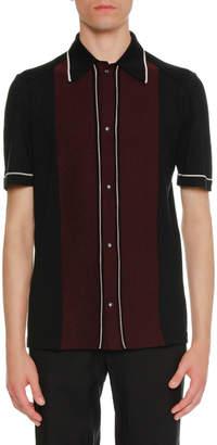 Lanvin Two-Tone Wool Bowling Shirt
