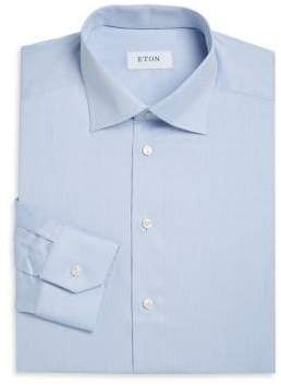 Eton Slim Fit Twill Dress Shirt