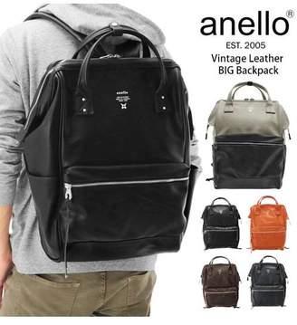 Anello (アネロ) - BACKYARD アネロ anello #AT-B1511 ヴィンテージ調合皮 プレミアム口金入りリュック