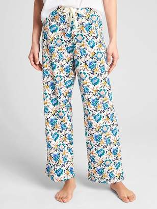 Gap Dreamer Print Drawstring Pants in Poplin