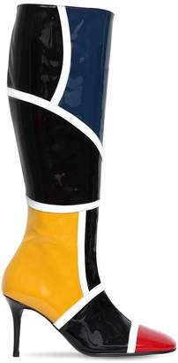 85mm Patent Leather Tall Boots