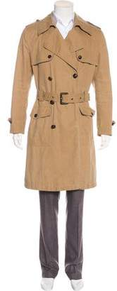 Dolce & Gabbana Double-Breasted Wool Trench Coat