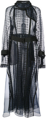 sheer lace trench coat