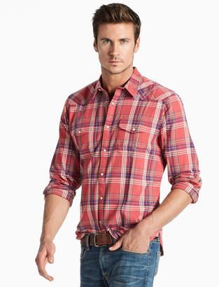 Lucky Brand Saturday Stretch Western Shirt