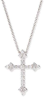 FANTASIA Large CZ Cross Pendant Necklace