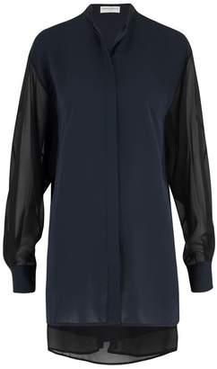 Amanda Wakeley Sinai Midnight Pleat Shirt