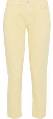 J Brand Sadey Cropped Low-Rise Slim-Leg Jeans