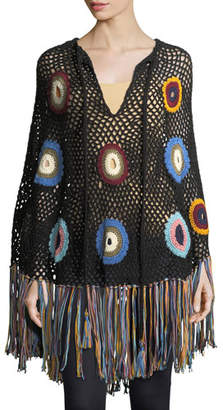 Talitha Collection Hand-Crocheted Fringe Poncho
