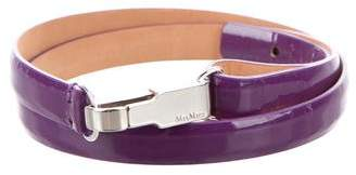 Max Mara Patent Leather Skinny Belt