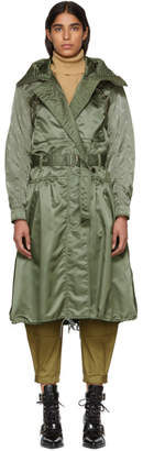 Chloé Green Shiny Embroidered Coat