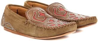 Isabel Marant Finha embroidered suede loafers