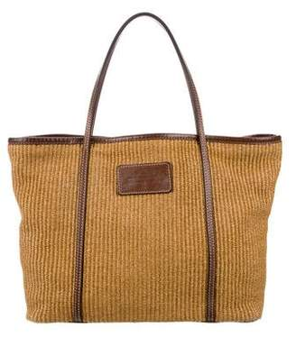 Pre-Owned at TheRealReal · Dolce   Gabbana Leather Trim Straw Tote e331e4962e06e