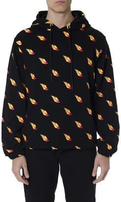 McQ Black Cotton Hoodie & All Over Print Sweatshirt