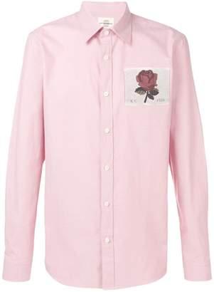 Kent & Curwen embroidered rose shirt