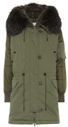 Yves Salomon Army Fur-trimmed parka coat