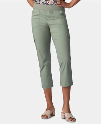 3ad711b58f536 Lee Platinum Petite Pull-On Cargo Capri Pants