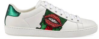 Ace embroidered low-top sneaker $870 thestylecure.com