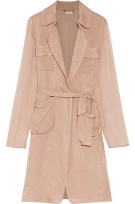 Diane von Furstenberg Blaine Belted Silk-Georgette Jacket