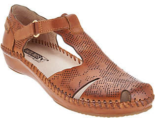 PIKOLINOS Leather T-Strap Shoes - Vallarta