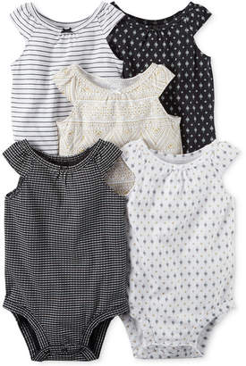 Carter's 5-Pk. Printed Cotton Bodysuits, Baby Girls