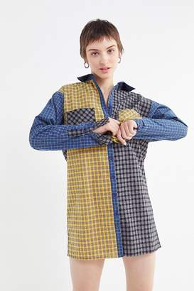 Urban Outfitters Mixed Plaid Shirt Dress