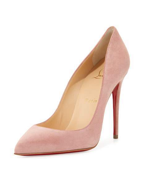Christian Louboutin  Christian Louboutin Pigalle Follies Suede Red Sole Pump, Ronsard Pink