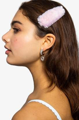 Topshop Pastel Pink Faux Fur Hair Slide Clips