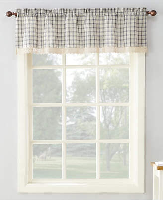"""Lichtenberg No. 918 Maisie Plaid 54"""" x 14"""" Rod-Pocket Kitchen Curtain Valance"""