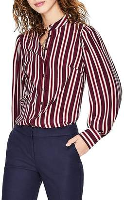 Boden Blouson Sleeve Stripe Silk Blouse