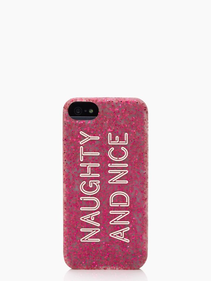 Kate Spade Naughty nice silicone iphone 5 case