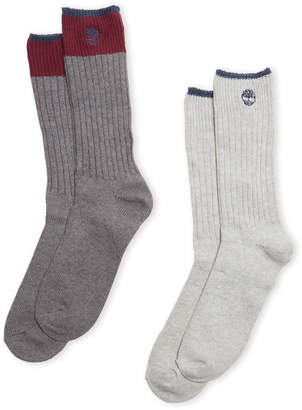 Timberland Two-Pack Color Block Boot Socks