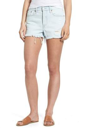 Levi's Wedgie High Waist Denim Shorts (Edge of Indigo)
