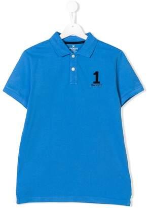 Hackett Kids TEEN number patch polo shirt