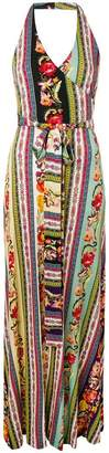 Etro patchwork belted maxi dress