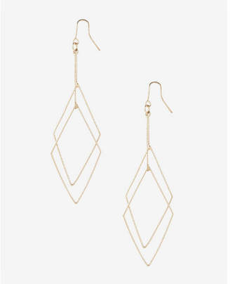 Express Textured Double Diamond Dangle Earrings $16.90 thestylecure.com
