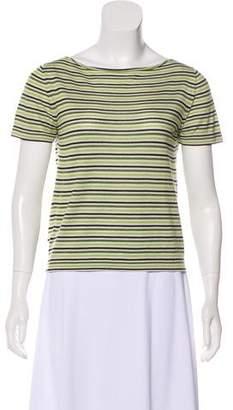 Prada Striped Wool Top
