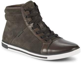 Kenneth Cole High-Top Leather Sneakers