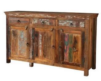 Bloomsbury Market Petit Borendy Reclaimed Wood 3 Drawer 3 Door Accent Cabinet Bloomsbury Market