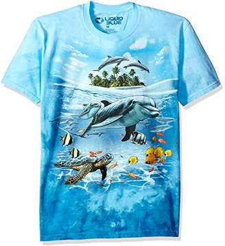 Liquid Blue Men's Dolphin Domain T-Shirt