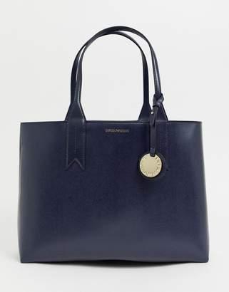 Emporio Armani leather tote bag