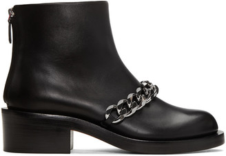 Givenchy Black Leather Chain Boots $1,395 thestylecure.com