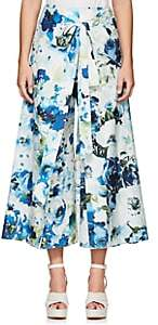 BY. Bonnie Young BY. BONNIE YOUNG WOMEN'S FLORAL COTTON-SILK WRAP-FRONT PANTS