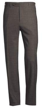 Canali Stretch Wool Trousers