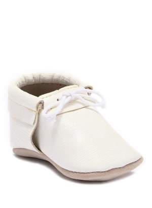 First Steps Metallic Saffiano Moccasins (Baby & Toddler)