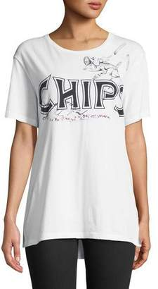 Burberry Chips Graphic Short-Sleeve Tee