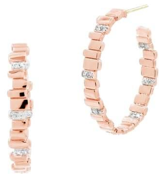 Freida Rothman Radiance Cubic Zirconia Hoop Earrings